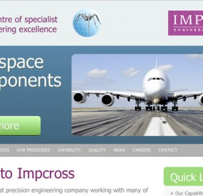 Impcross web site home page