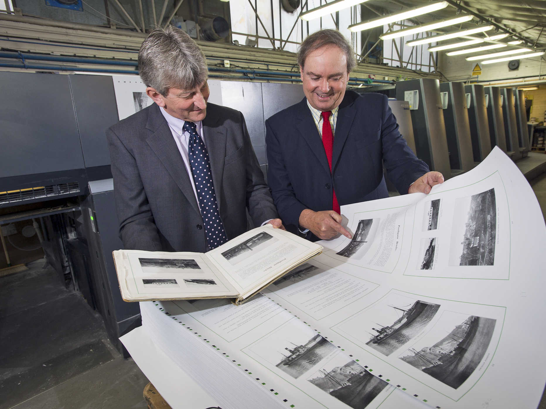 Nick Horton and Marcus Scott Russell at the printers