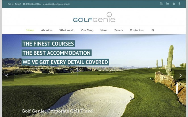 Golf Genie web site