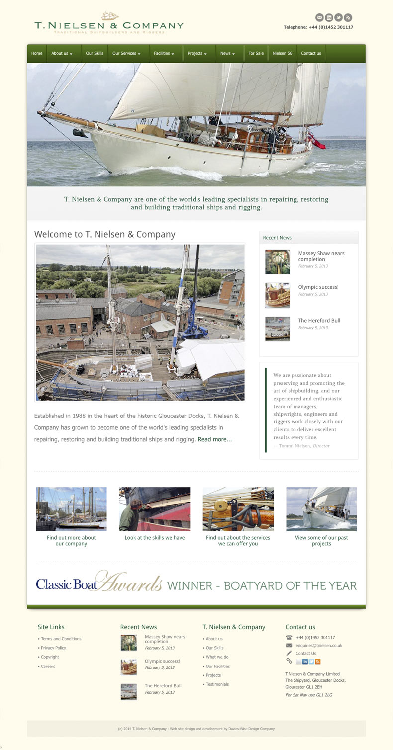 T. Nielsen & Company web site home page