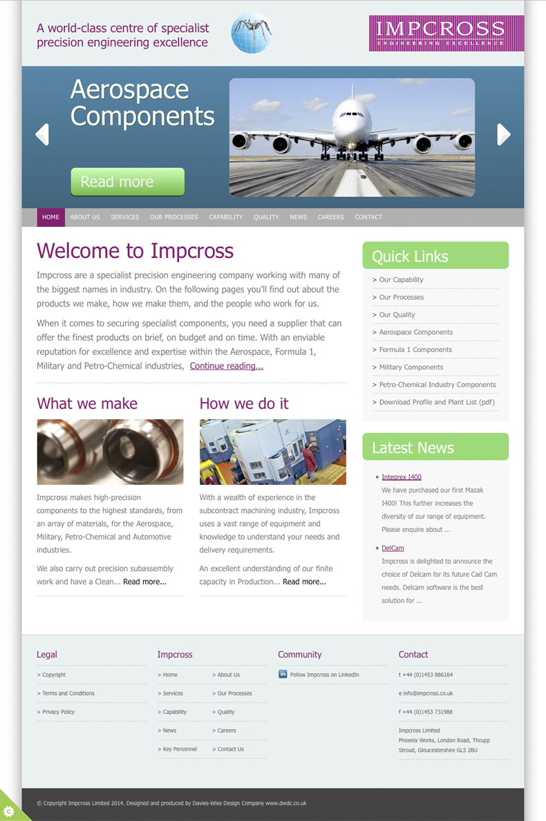 Impcross home page
