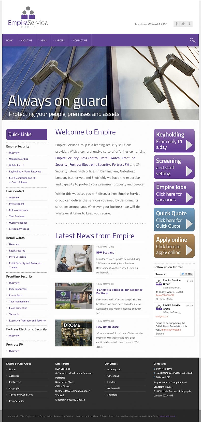 Empire Service Group web site home page