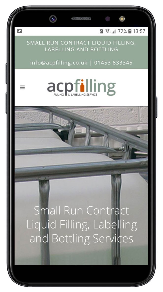 acp filling website mobile view